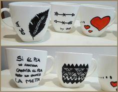 Decoración en cerámica tazas de café molonas