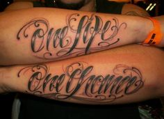 One Life One Chance Tattoo on