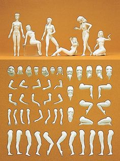 "Preiser G-scale 58001 Model figure ""Eve"", 7 unpainted figures Kit, NIB ! Wargaming Terrain, Character Design Inspiration, Sports Illustrated, Plastic Models, Sculpture Art, Sculpting, Disney Characters, Fictional Characters, Ebay"