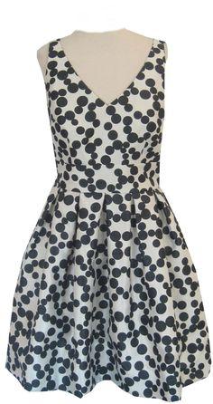 Polka Dot Fit & Flare Dress