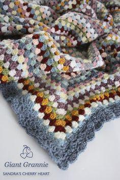 giant granny square blanket  ༺✿Teresa Restegui http://www.pinterest.com/teretegui/✿༻