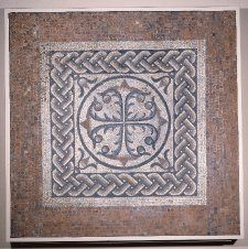 """Bank of England Mosaic,"" found underneath the Bank of England in London, 3rd C, Romano-British."