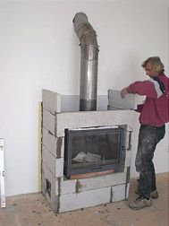 Argan s.r.o. Wood Stove Heater, Fireplace Console, Sweet Home, House Design, Architecture, Stoves, Fire Places, Drive Way, Houses