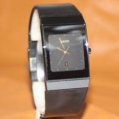 Rado DiaStar Swiss Quartz Black Ceramic Classic Women's Watch I love this watch. Still looks brand new over 21 years later. Rado, Square Watch, Quartz, Ceramics, Watches, My Love, My Style, Classic, Accessories