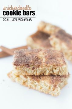 These SNICKERDOODLE COOKIE BARS are just as delicious as the classic cookies but take half the time!