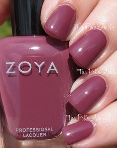 The PolishAholic: Zoya Naturel Deux Collection Swatches & Review. Aubrey, a medium plum creme