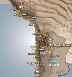 Recorrido del Dakar 2013
