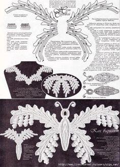 L'angelo dell'uncinetto: Schemi per merletto d'Irlanda