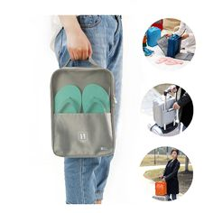Sale 18% (6.99$) - IPRee® Polyester Waterproof Shoe Bag Handle Cubes Tote Box Case Storage for 3 Pairs of Shoes