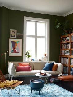 Usa colores brillantes y patrones frescos para añadir interés al espacio.