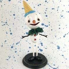 Oli⛄️ my first snowman! ❄️⛄️❄️ And my first such a big creature. I am very happy and proud of myself. ❄️Snowman Oli is now available on Etsy (link in bio)❄️ #snowman #christmas #christmasdecorations #christmasdecor #winterwonderland #handmadetoy #frosty #christmasart #whimsicalart #snowwhite #holiday #fimo #fimojewelry #kawaii #kawaiiclay #charms #mo_creatures #ooak #ooaktoy #arttoy #clay #handmade #handmadejewelry #wip #polymerclay #sculpey #creepycute #magicalcreatures #anthropomorphic…