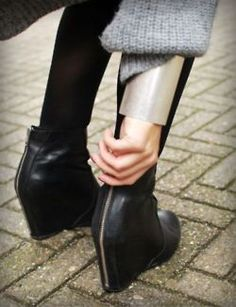 black wedge booties for this winter