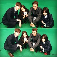 Park Shin Hye instagram updates 2014-11-20 with the 4 leads