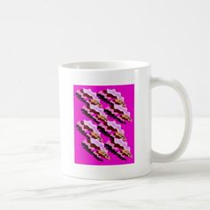 Design wild pink Camouflage lines Coffee Mug Custom Office Party #office #partyplanning