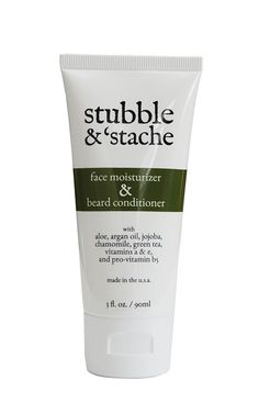 stubble & 'stache Face Moisturizer and Beard Conditioner