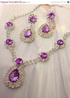 Wedding jewelry set bridesmaid jewelry set Bridal by GlamDuchess, $40.12