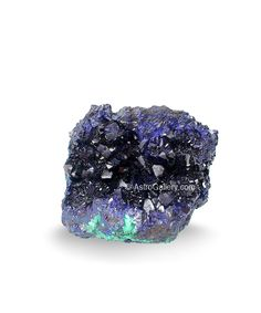 Azurite Crystals on Matrix from Anhui Province, China    Size 4 x 3 Inches    Find more fascinating gems at our Hall of Fame gallery > http://www.AstroGallery.com/hall-of-fame