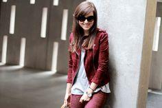"#fashion #fashionista Andy rosso bianco Style Scrapbook: ""BURGUNDY"""