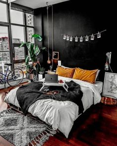 home aesthetic Bedroom Goals Abh - home Dream Rooms, Dream Bedroom, Room Decor Bedroom, Bedroom Ideas, Bedroom Designs, Bedroom Small, Dark Cozy Bedroom, Dark Bedrooms, White Bedroom