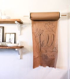 Learn how to make an easy mounted craft paper roll for your home. This is a great addition to your home for holidays, everyday to do lists, and birthdays!