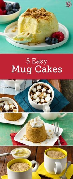 Look out coffee and hot cocoa, now you can make breakfast and dessert in your favorite mug, in minutes! From cheesecake and muffins to pumpkin pie, we're teaching old mugs new tricks.