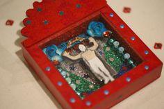 SOLD, Lucha Libre Nicho Box, Zinnia Folk Arts, Minneapolis, MN
