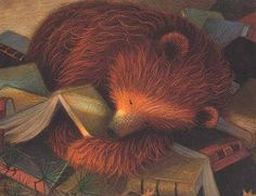 Haseley Dennis & Jim La Marche: The Bear Who Loved Books Art D'ours, Love Bears All Things, Comic, World Of Books, Children's Book Illustration, Winter Illustration, Animal Illustrations, Bear Art, Book Images
