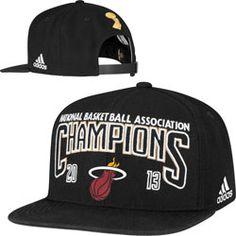 7b0c17fd15b Miami Heat adidas 2013 NBA Finals Champions Official Locker Room Snapback  Hat http