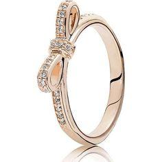 bow ring rose gold pandora