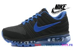 new products 15c6c 6474d Nike Air Max 2017 Vintage Bonne Ligne de production Homme Noir   Bleu-Nike  Boutique
