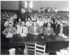 Defense Team at Emmett Till murder trial (University of Memphis Library)
