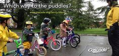 Last weekend, our Cascade Training Series and Family Biking Series kicked off. Both the CTS riders and the coaster bike crew braved the rain, but one group avoided the puddles, while the other enthusiastically aimed for them.   Join the fun in our Family Biking Series: www.cascade.org/family-biking