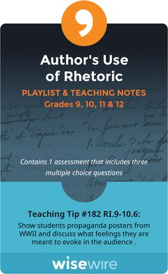 teaching rhetoric in high school english