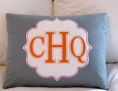 custom mongrammed pillow etsy $49