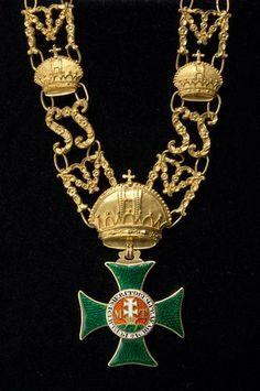 (Austria) St Stephen Order. Grand Cross collar 1836. Hof-und Galanteriewaren, Kunsthistorisches Museum, Vienna