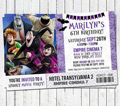 Tarjeta de Invitación - Hotel Transilvania.