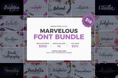 Marvelous Font Bundle (92% Off) By Unicode Studio