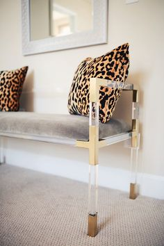lucite and gold details