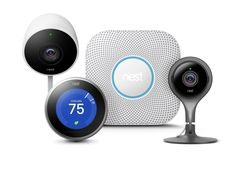 The entire Nest family: the Learning Thermostat, the Nest Protect Smoke and CO Alarm, and the Indoor and Outdoor Cameras. Electric Gate Motors, Electric Gates, Nest Thermostat, Outdoor Rooms, Outdoor Dining, Outdoor Gardens, Outdoor Chairs, Outdoor Furniture, Shopping