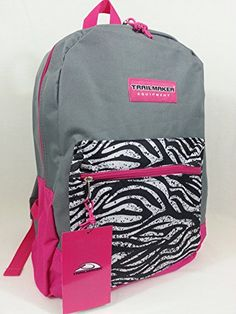 "17"" Trailmaker Backpack Book Bag Different Colors (Gray-Pink Zebra) Trailmaker http://www.amazon.com/dp/B01228XNSS/ref=cm_sw_r_pi_dp_ZlhSvb1Q9V7XV"