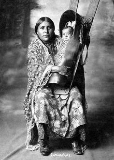 Comanche mother and child - circa 1890