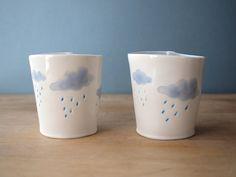 cloud cups, villarrealceramics, etsy