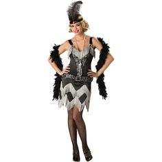 Charleston Cutie Adult Halloween Costume, Women's, Size: Small, Multi-Colored
