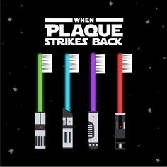 Dentaltown - When Plaque Strikes Back! Calling all Star Wars fans! May the floss be with you! The Star Wars movie we're most excited about! Think of the Star Wars theme song as you look at this! #PlaqueFighters #StarWars #Dentaltown #HowardFarran