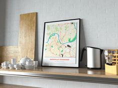 Now available in our store: Premium Map Poste... Check it out here! http://shop.mapprints.co/products/premium-map-poster-of-nashville-tennessee-simple-colorful-unframed-nashville-map-art?utm_campaign=social_autopilot&utm_source=pin&utm_medium=pin