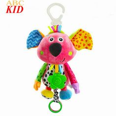 Hot Sale Baby Boy Girl Brinquedos Animal Dog Juguetes Speelgoed Cute Fish Cow Hanging Toys Infants Musica Toys KT007