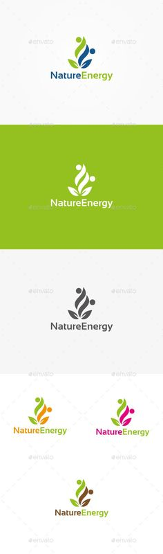 Nature Energy - Logo Design Template Vector #logotype Download it here: http://graphicriver.net/item/nature-energy-logo/9942886?s_rank=1450?ref=nesto  https://www.kznwedding.dj