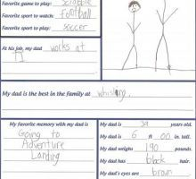 All About My Dad Forms {Father's Day}