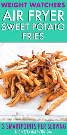 This is the most crave-worthy Air Fryer Sweet Potato Fries recipe out there! These tasty sweet potato fries are Gluten-F. Air Fryer Oven Recipes, Air Frier Recipes, Air Fryer Dinner Recipes, Appetizer Recipes, Air Fryer Sweet Potato Fries, Ww Recipes, Xmas Recipes, Healthy Recipes, Snacks Recipes