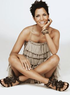 Halle Berry in her 40's still flawless.. LOVE this outfit to!